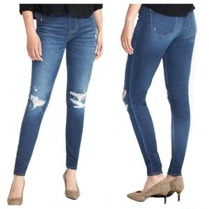 Old Navy Distressed Mid-rise Rockstar Jeans 14